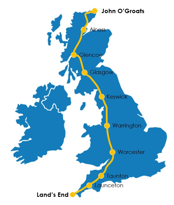 JOGLE Route for posters