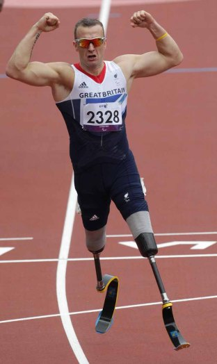 Paralympics London 2012 - ParalympicsGB - Athletics held at the Olympic Stadium 1st September 2012 Richard Whitehead competes in the the Men's 200m - T42 Final at the Paralympic Games in London. Photo: Richard Washbrooke/ParalympicsGB