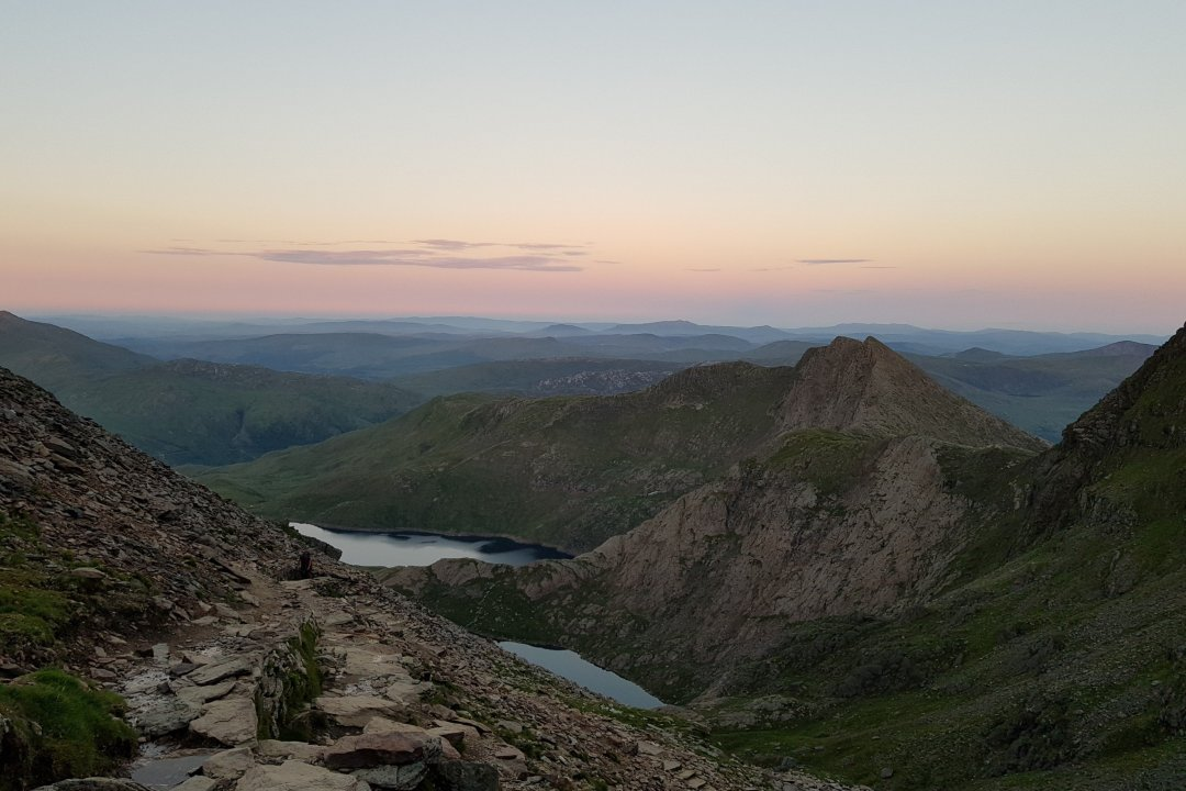 Sunset from the summit of Snowdon