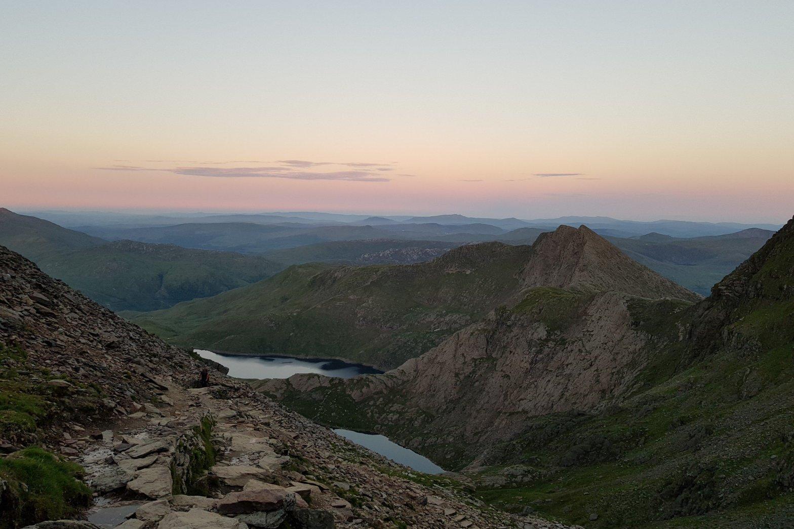 Sunset from the summit of Snowdon